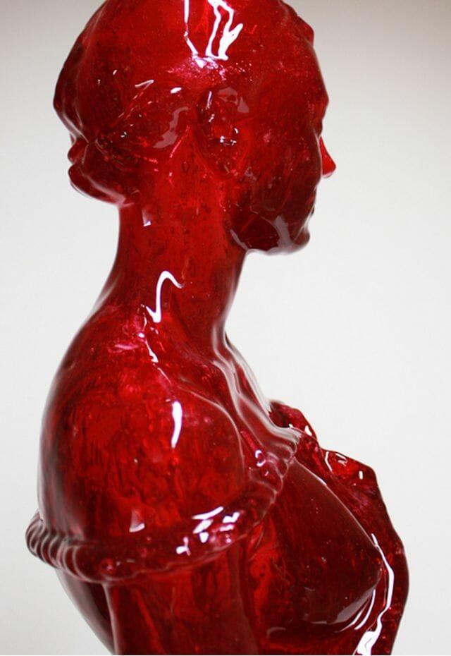 Joseph Marr Cherry Laura candy sculpture