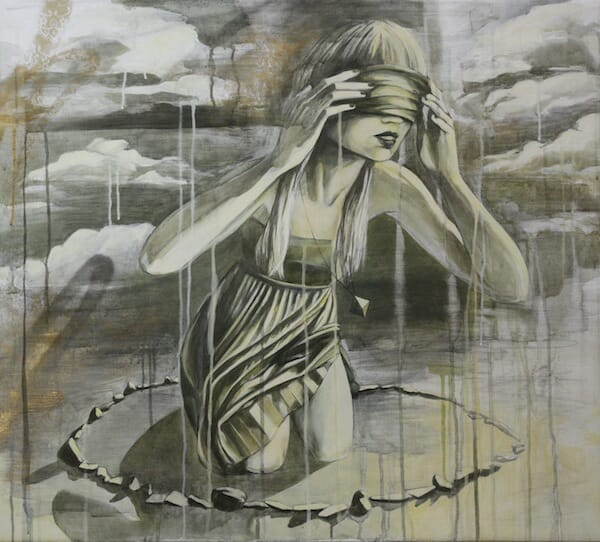 The_reflection_of_the_sun_ink_acrylic_oil_and_spraypaint_on_belgian_linen_80x90cm_beautifulbizarre