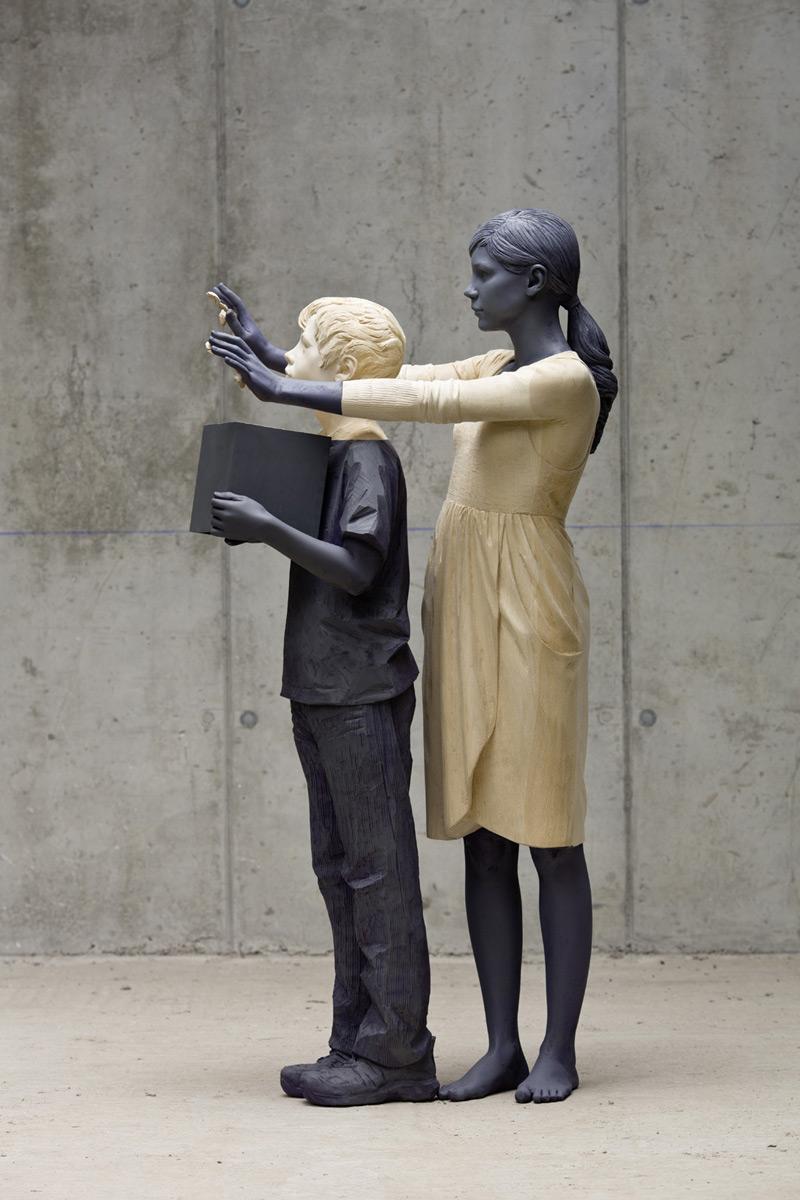 Willy Verginer wood sculpture