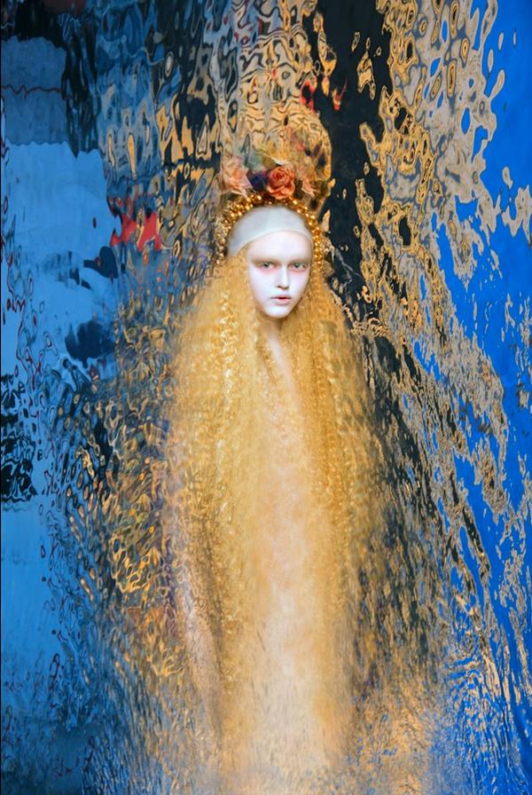 Olga Valeska Fine Art Photography Self Portrait Klimt Water Girl