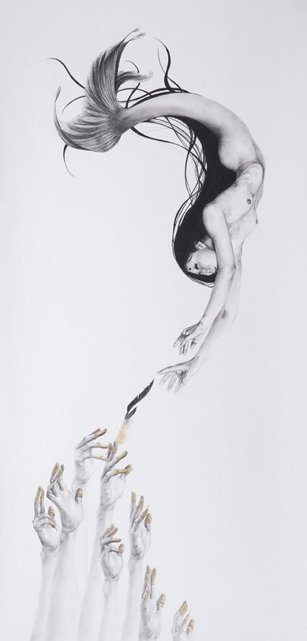 Stephanie Inagaki Mermaid Drawing Metamorphosis
