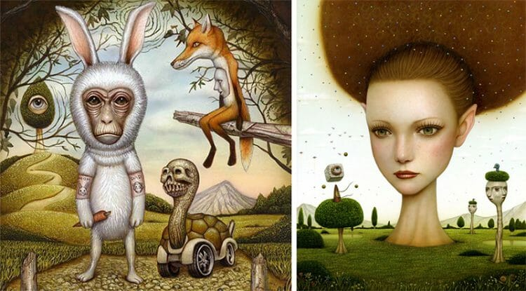 naoto hattori surrealistic painting - contemporary art - surrealism