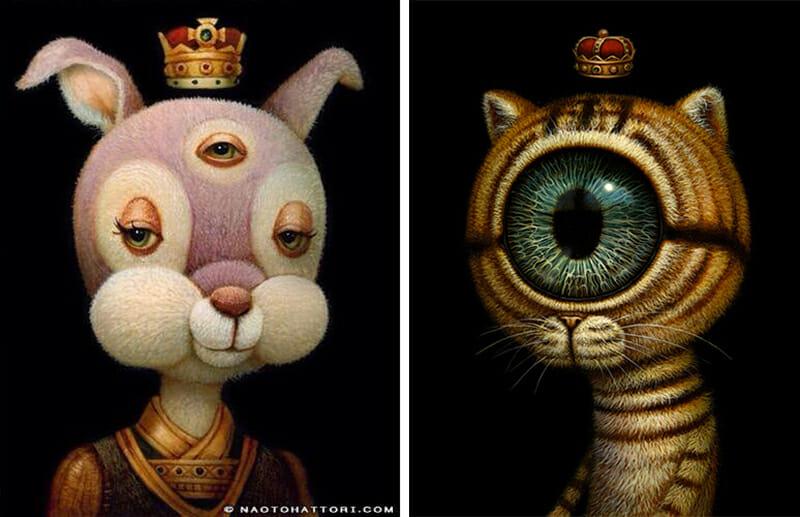 naoto hattori surrealistic painting - contemporary art - surrealism