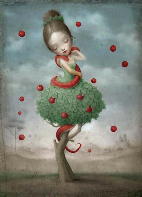 the beautiful and bizarre world of nicoletta ceccoli - whimsical surrealistic painting
