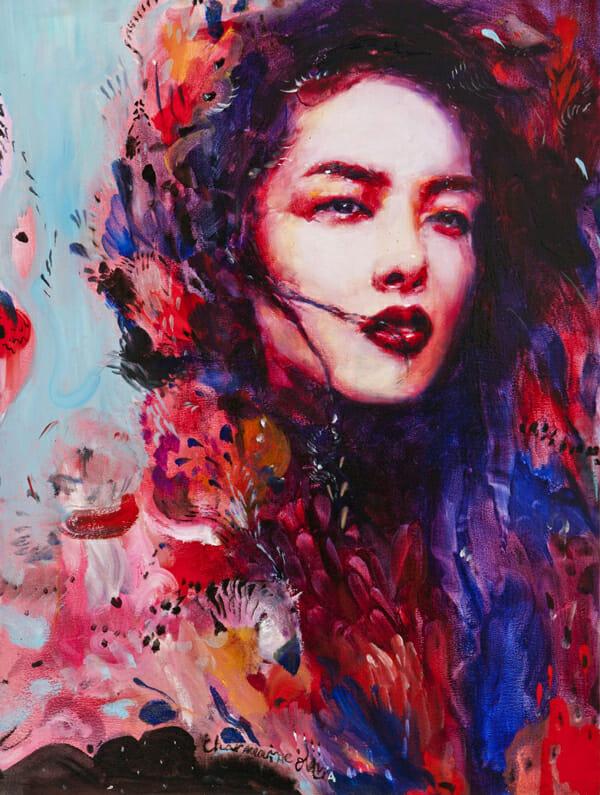 Charmaine Olivia Azalea Beautiful Bizarre Magazine Painting