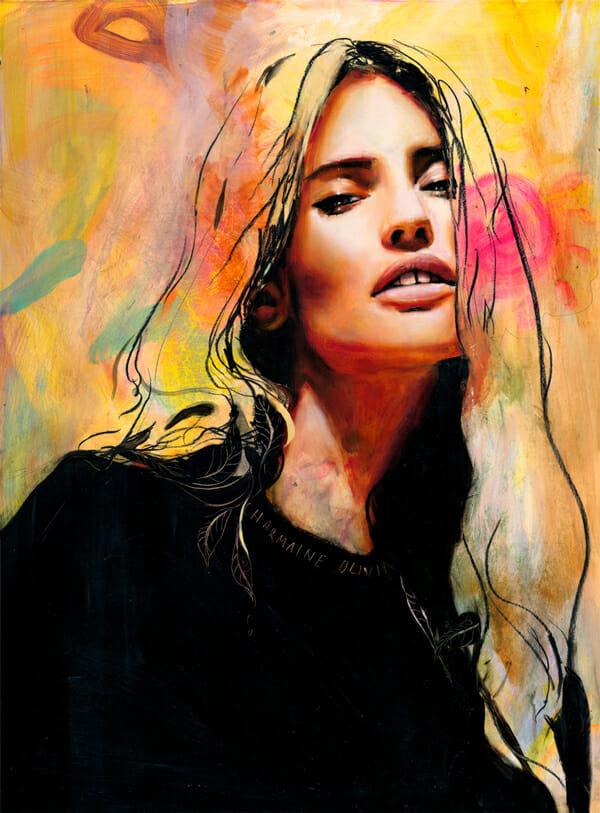 Charmaine Olivia Honeybee Beautiful Bizarre Magazine Painting