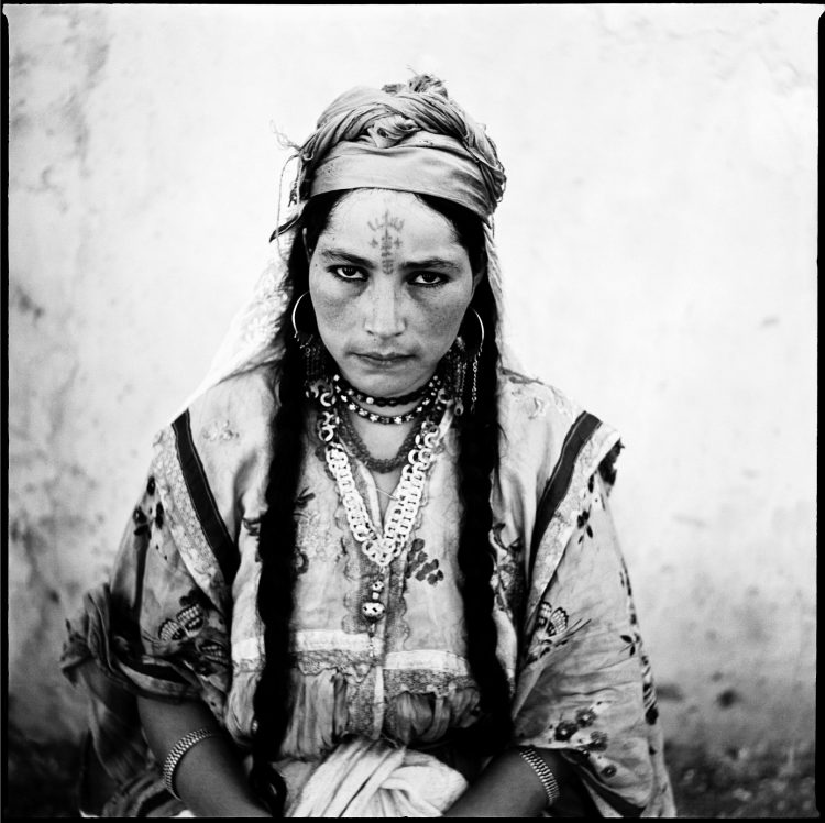 North Africa woman with traditional tattoos.