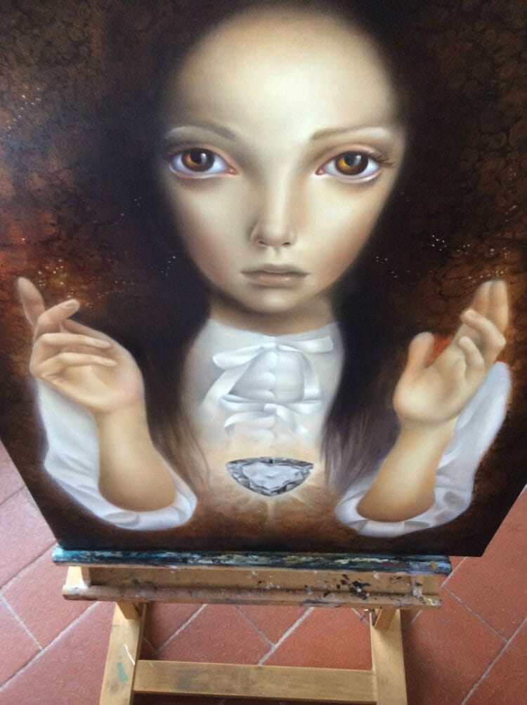 erica calardo painting - 2014 - work in progress