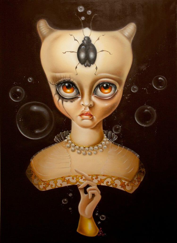 erica calardo painting baroque bordello