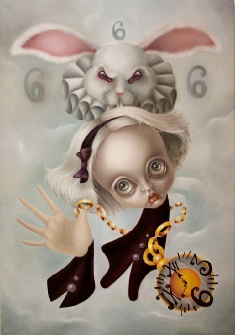 erica calardo painting - faster pussycat - contemporary art