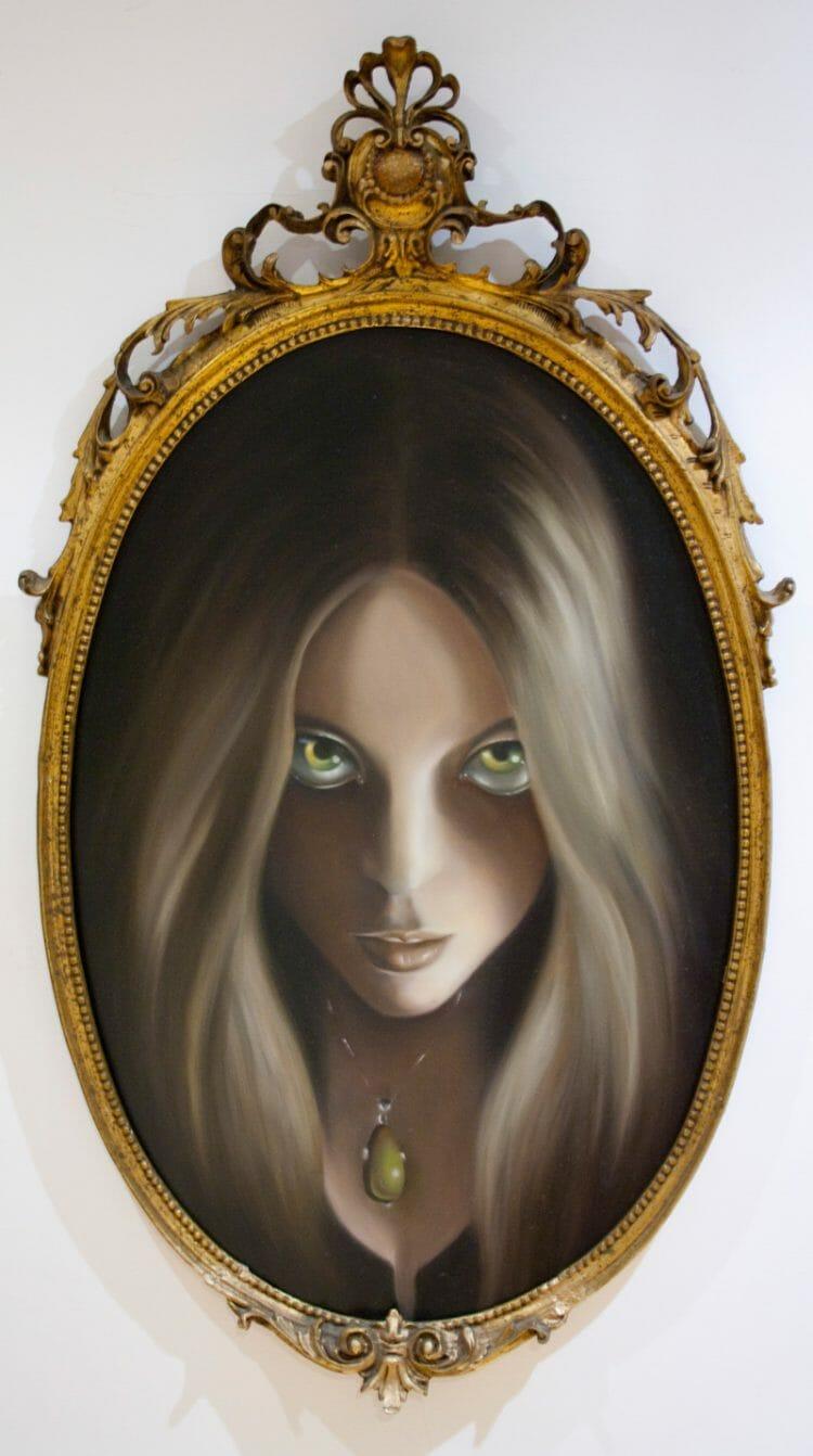 erica calardo self portrait painting