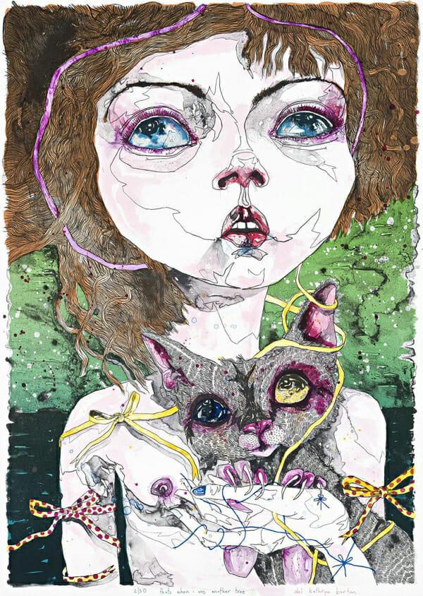 Del Kathryn Barton Australian Artist Painting 001
