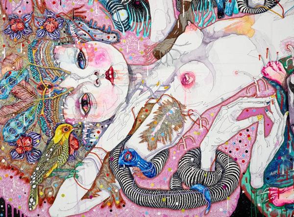 Del Kathryn Barton Australian Artist Painting 6