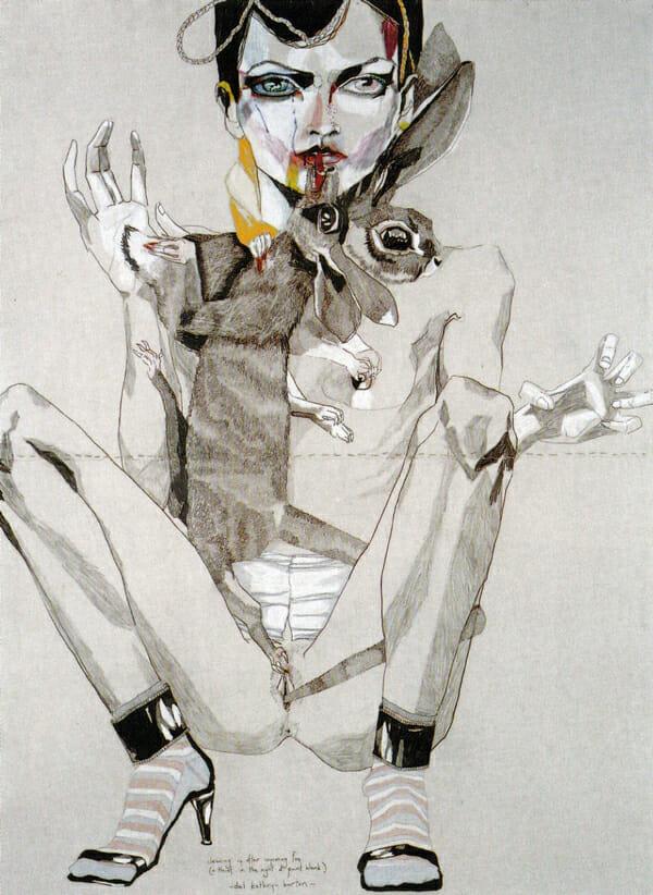 Del Kathryn Barton Australian Artist Drawing Detail