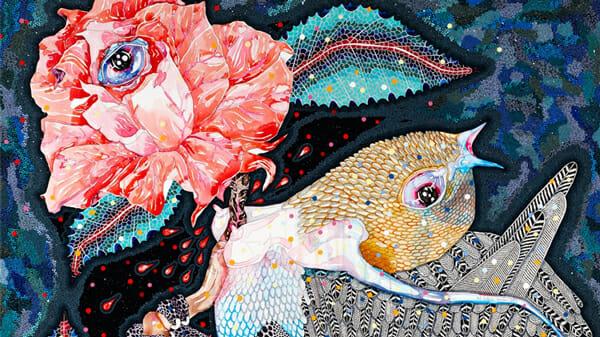 Del Kathryn Barton Australian Artist Painting Detail 9
