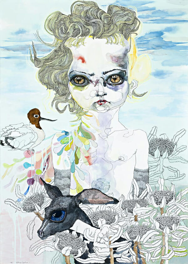 Del Kathryn Barton Australian Artist Painting 14