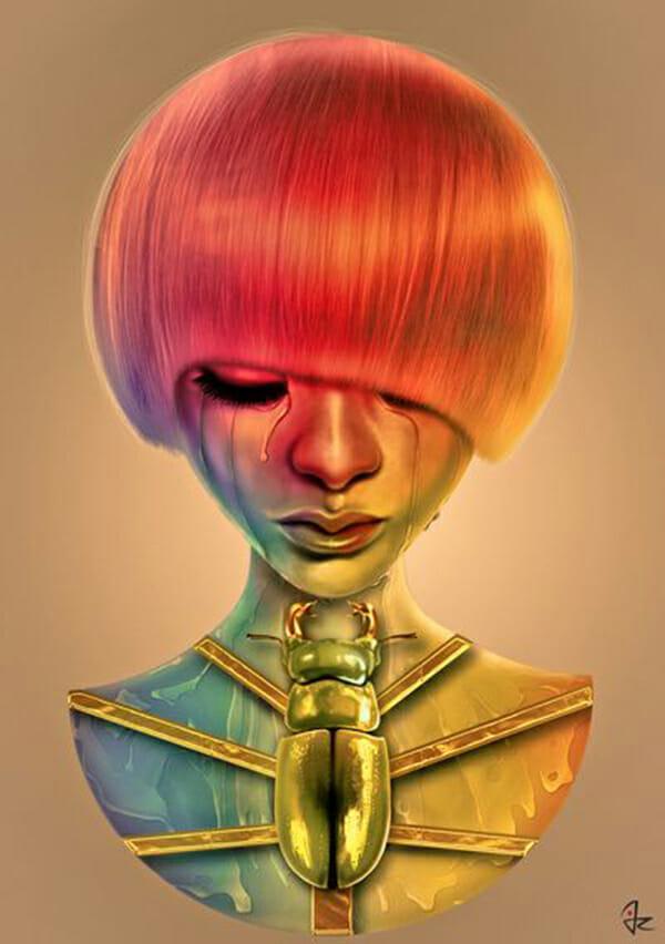Giulio Rossi Digital Art Pop-Culture Surrealism Lowbrow Juxtapoz Beautifulbizarre