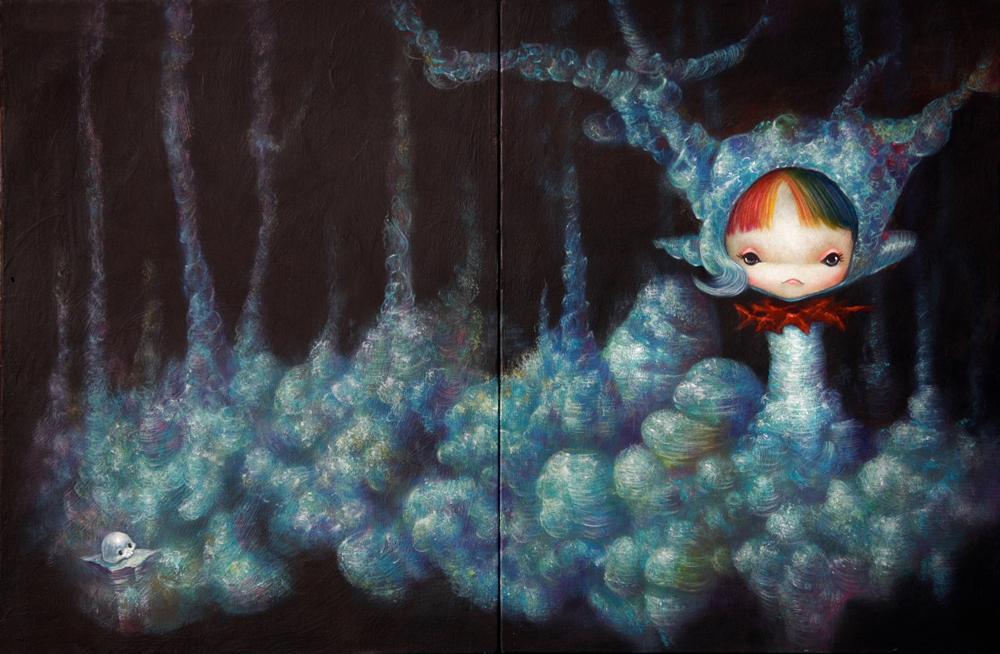 yosuke ueno painting - beautiful bizarre magazine interview - contemporary art - artist - japanese painter