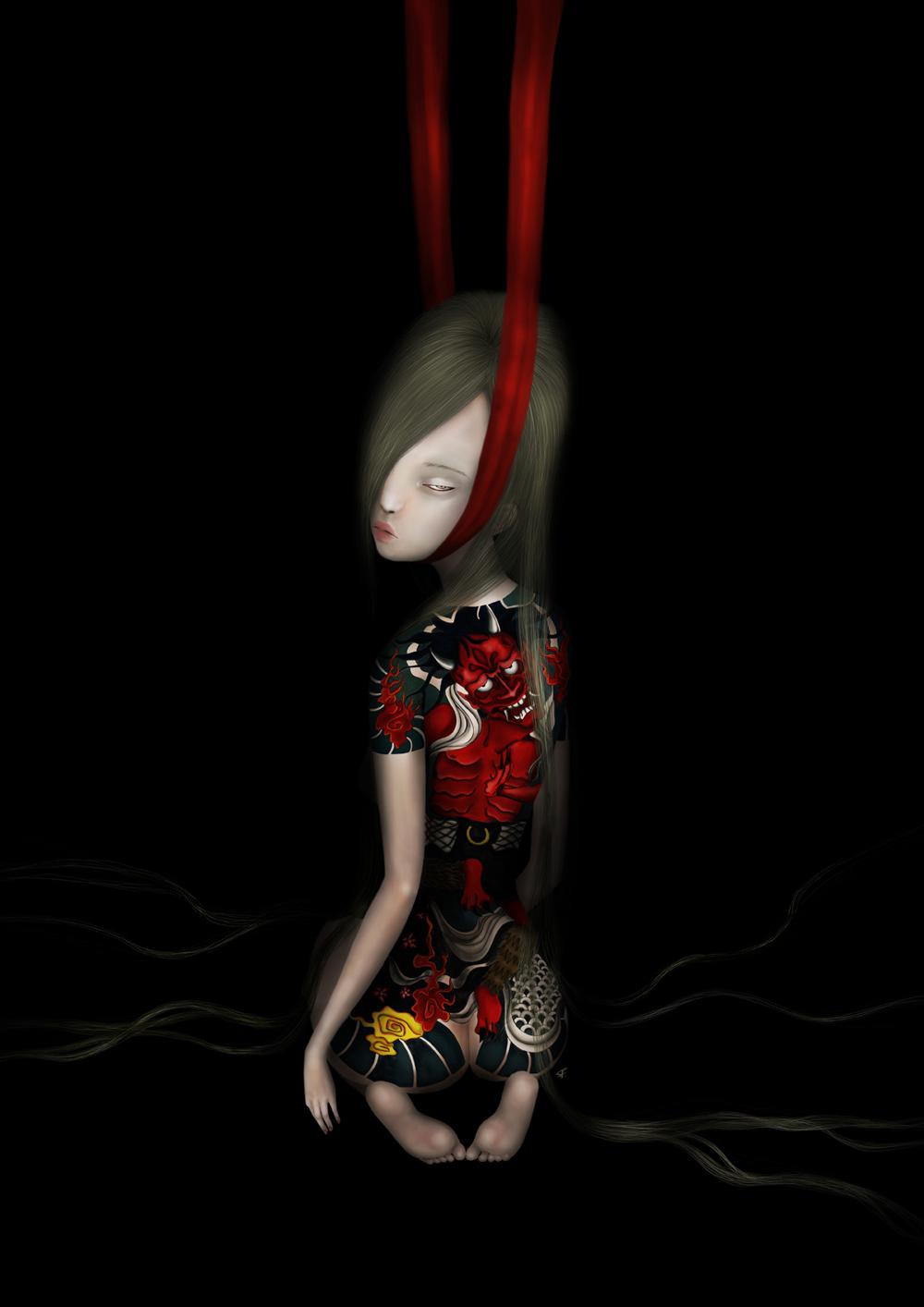 sonya fu - digital painting - beautiful bizarre art magazine interview