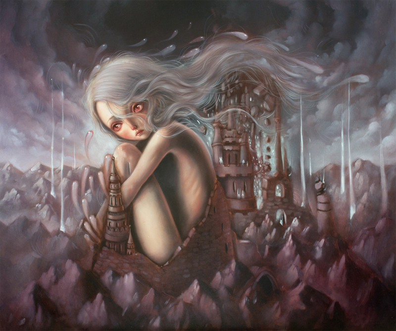 Illumine by Ania Tomicka - Painting - Chaos//Kosmos at Pink Zeppelin Gallery