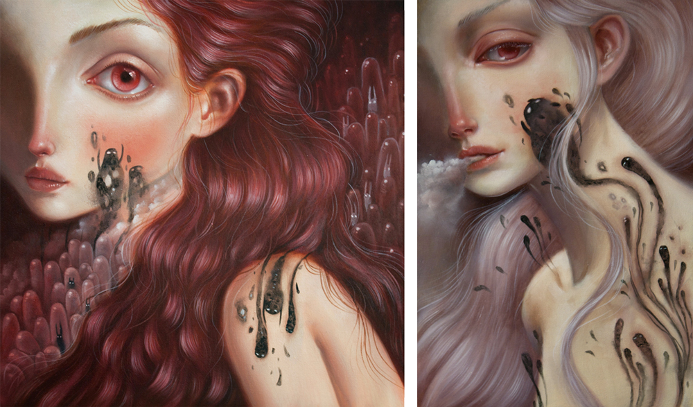 Ania Tomicka - painting - Chaos//Kosmos at Pink Zeppelin Gallery
