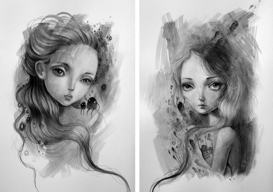 Ania Tomicka - illustrations - original art - Chaos//Kosmos at Pink Zeppelin Gallery