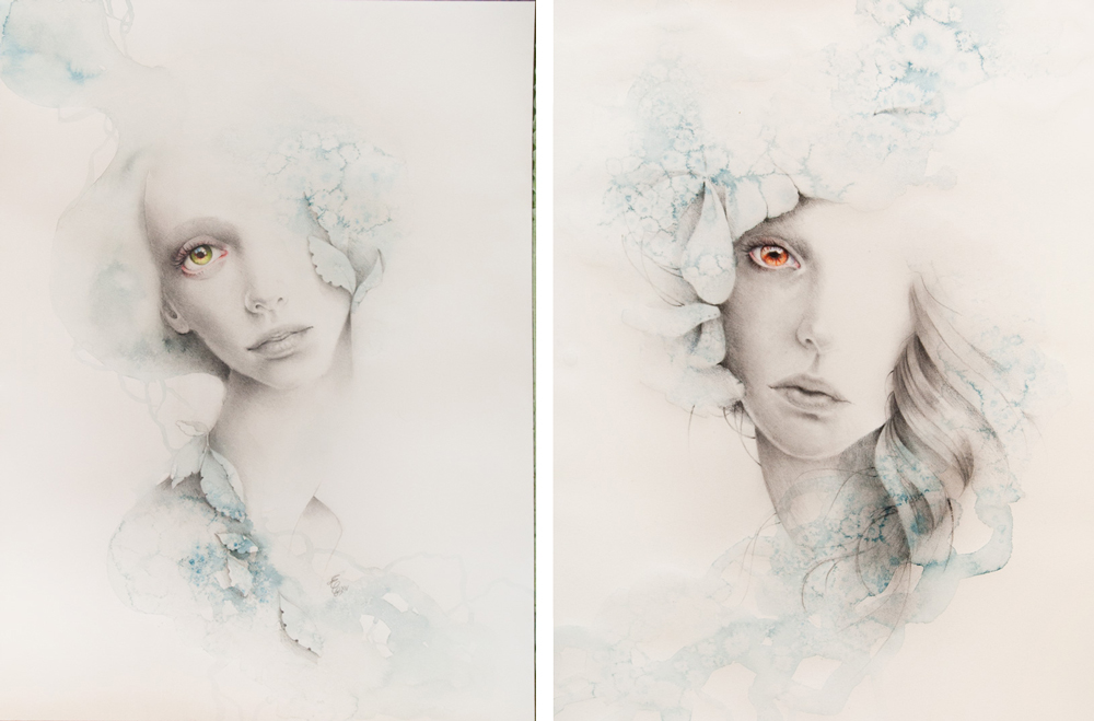 Erica Calardo - original drawing - Chaos // Kosmos at Pink Zeppelin Gallery