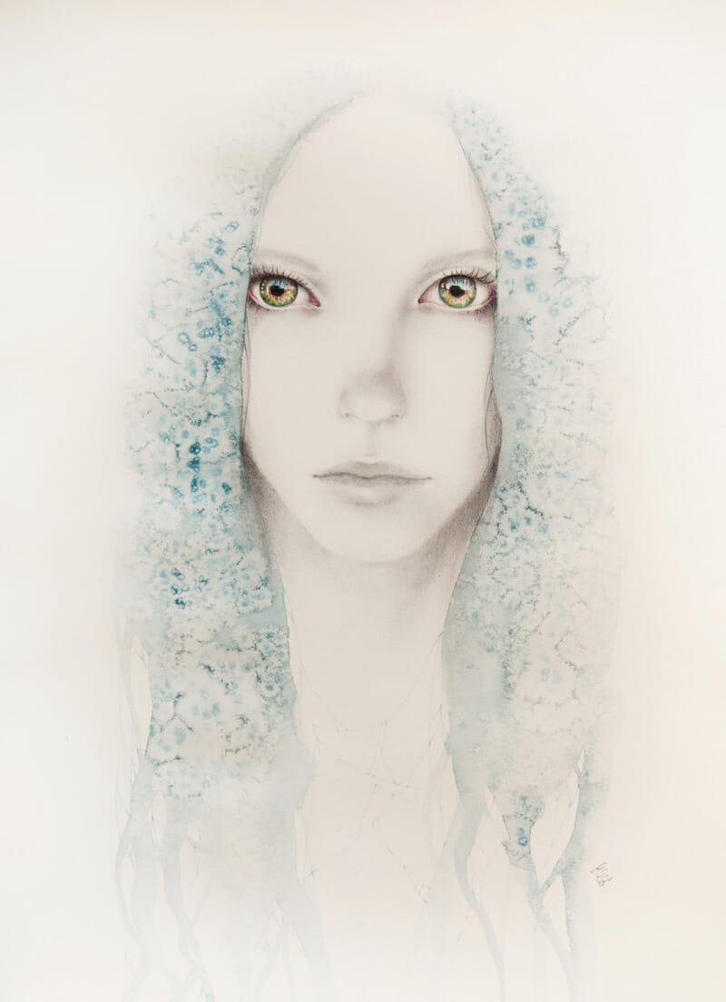 Erica Calardo - Chaos // Kosmos - double solo show - original drawing - at Pink Zeppelin Gallery