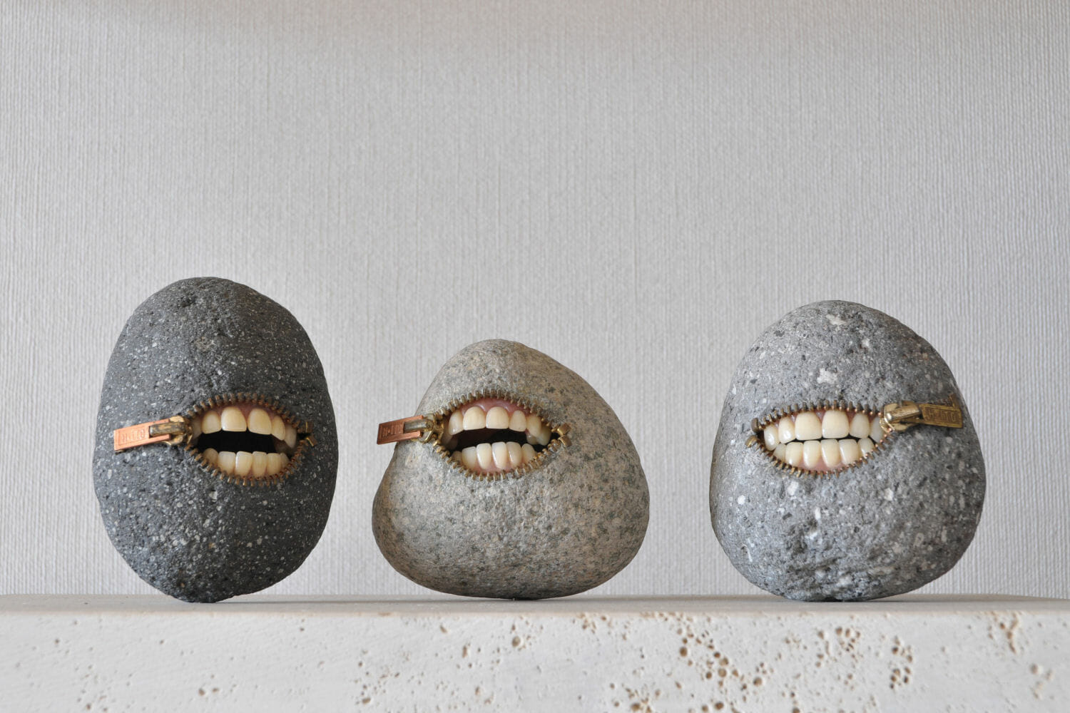 Hirotoshi Ito - surrealistic stone sculpture