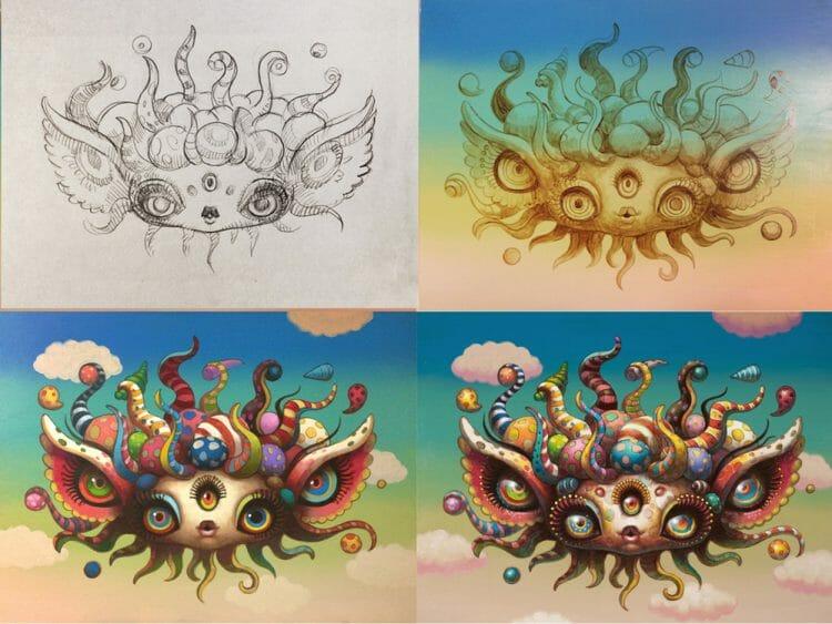 Yoko d'Holbachie - Painting Process