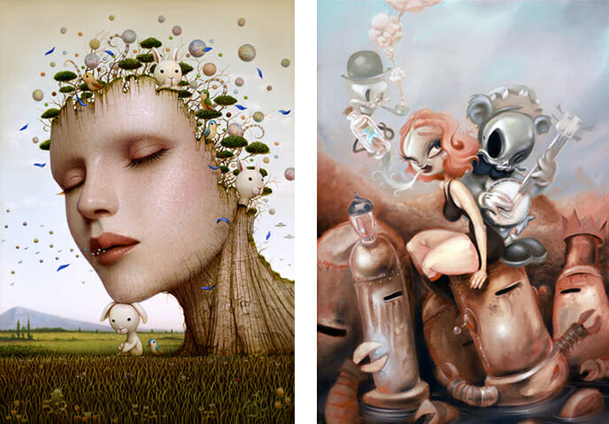 Baker Hesseldenz - 1st Annual Pop Surrealism Masters Art Exhibition 2014 - feat. Naoto Hattori and Brandt Peters