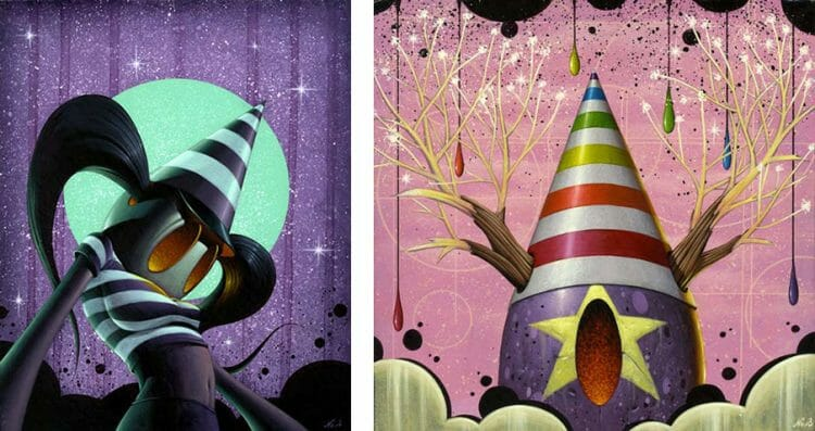 Baker Hesseldenz - 1st Annual Pop Surrealism Masters Art Exhibition 2014 - feat. Nathan Ota