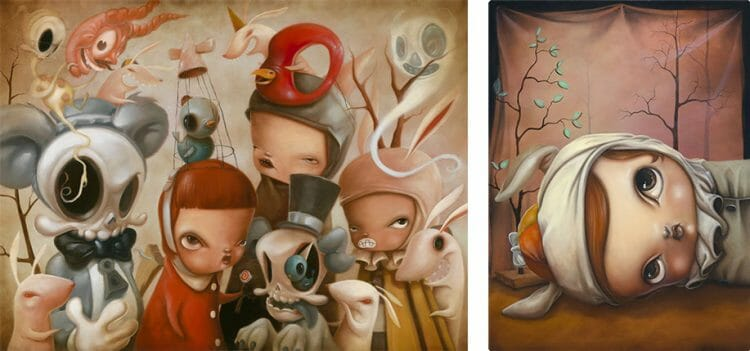 Baker Hesseldenz - 1st Annual Pop Surrealism Masters Art Exhibition 2014 - feat. Kathie Olivas