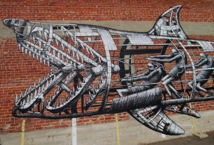 Phlegm surreal street art