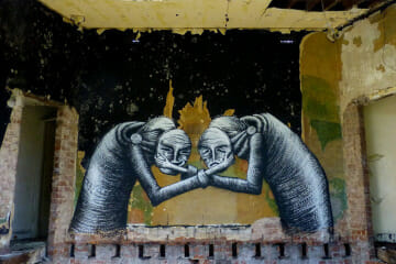 Phlegm tragedy comedy street art
