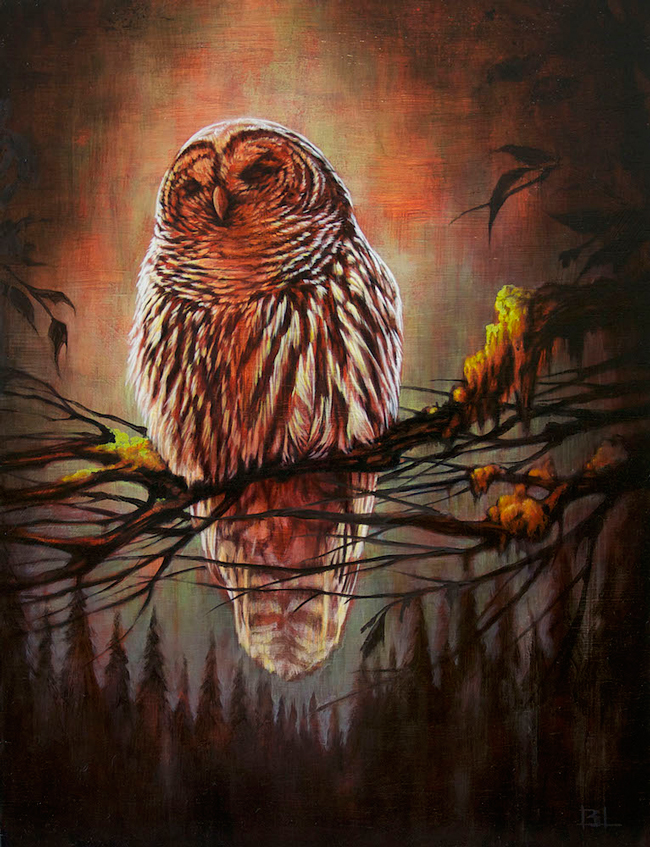 """""""Omen"""" by Brin Levinson @ Antler PDX - An art exhibition for the benefit of The Audubon Society of Portland"""