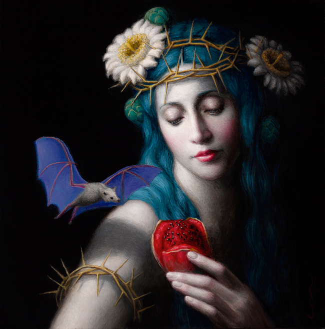 """""""Offering"""" by Chie Yoshii - A part of """"Brink"""" art exhibition for the benefit of The Audubon Society of Portland at Antler Gallery - Online preview by beautiful.bizarre art magazine"""