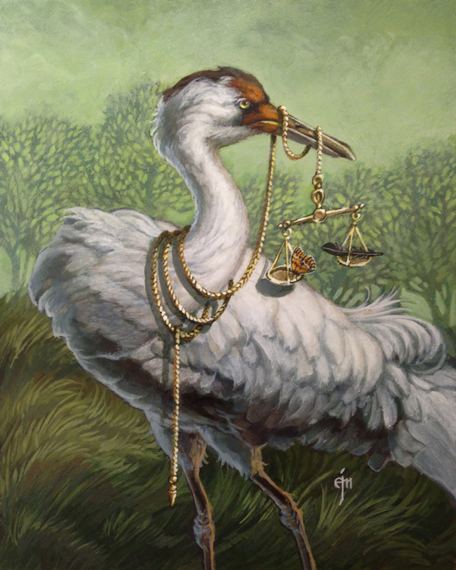"""""""On Balance"""" by Erich J. Moffit - A part of """"Brink"""" art exhibition at Antler Gallery for the benefit of The Audubon Society of Portland - Preview and article by beautiful.bizarre"""