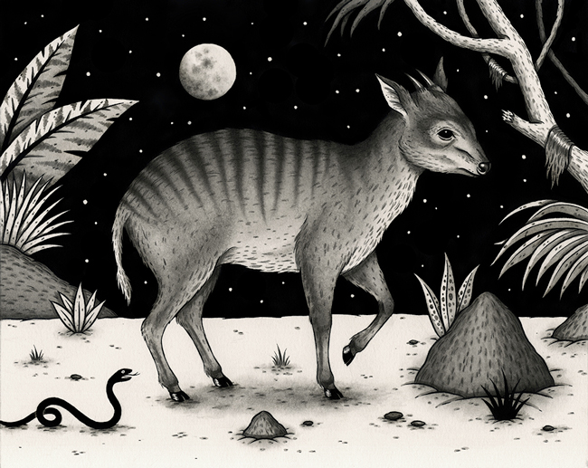 """""""Zebraduiker"""" by Jon MacNair - On view at Antler Gallery as a part of """"Brink"""" - an art exhibition for the benefit of The Audubon Society of Portland"""