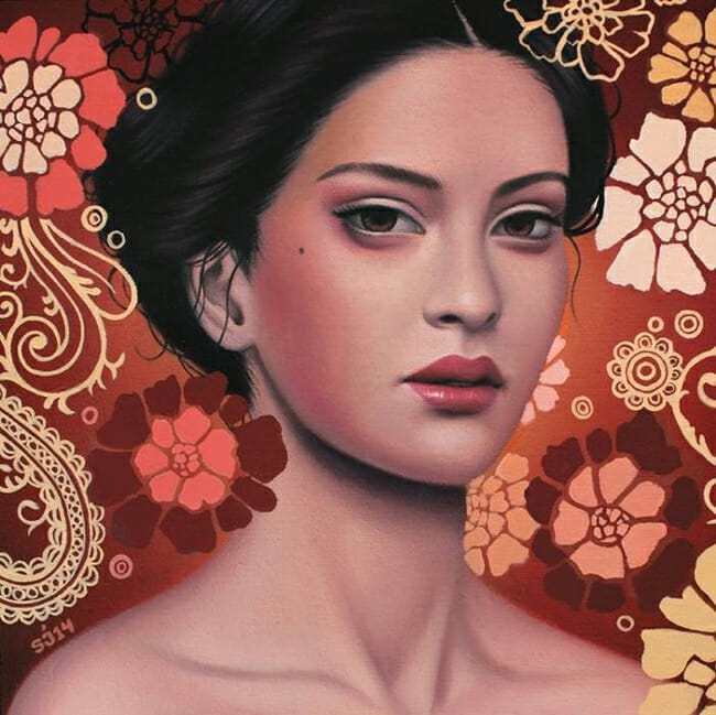 Sarah Joncas - Savannah Sunset -La Familia - Thinkspace 10th Anniversary Show - art exhibition preview by beautiful bizarre
