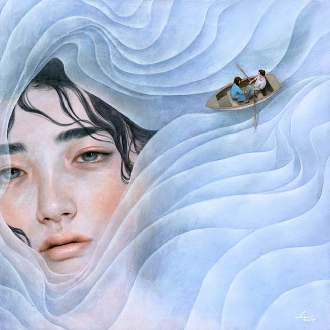 Tran Nguyen - My Lilac - La Familia - Thinkspace 10th Anniversary Show - art exhibition preview by beautiful bizarre
