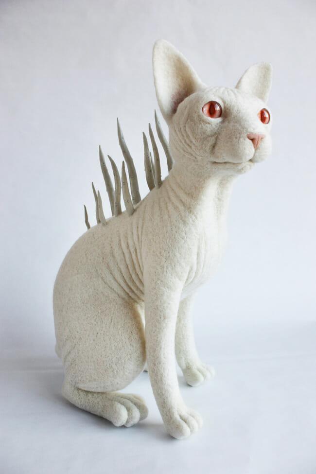 Felt spirit animals by Zoë Williams