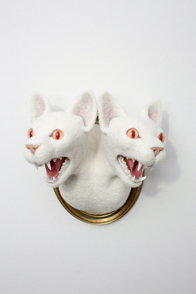 Felt spirit animals by Zoë Williams