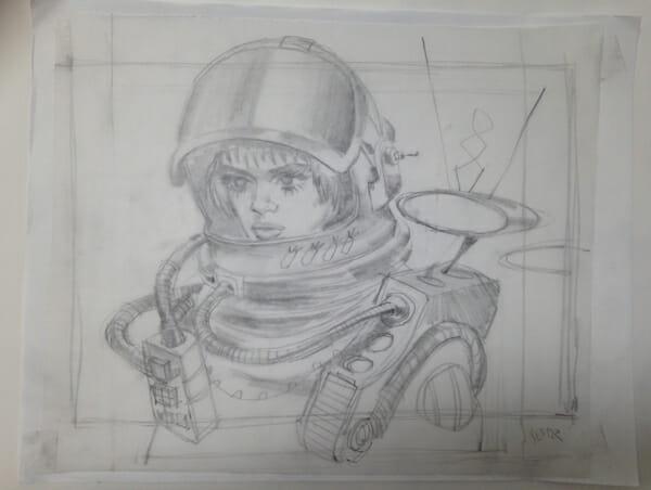 """Drawing 6"" by Glenn Barr @ Merry Karnowsky Gallery"