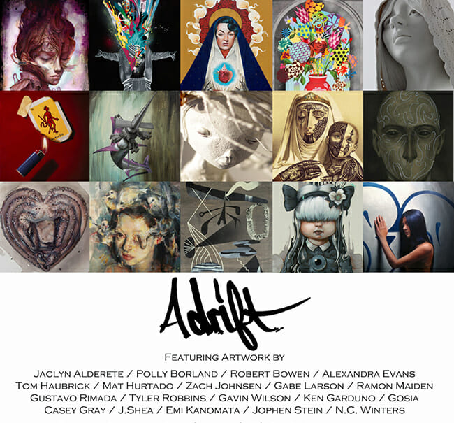 Adrift @ Marcas Gallery Costa Mesa California - Preview via Beautiful Bizarre Magazine