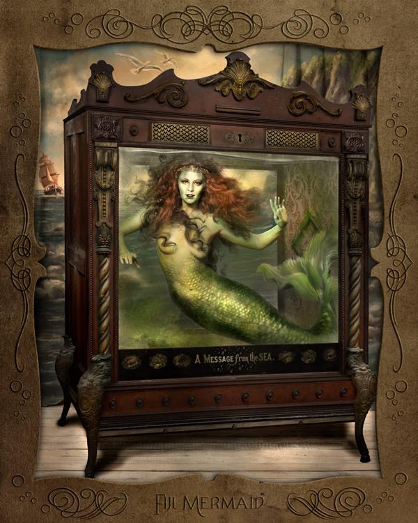 Fiji Mermaid by Ransom & Mitchell - retrospective exhibition at Vanilla Gallery Japan