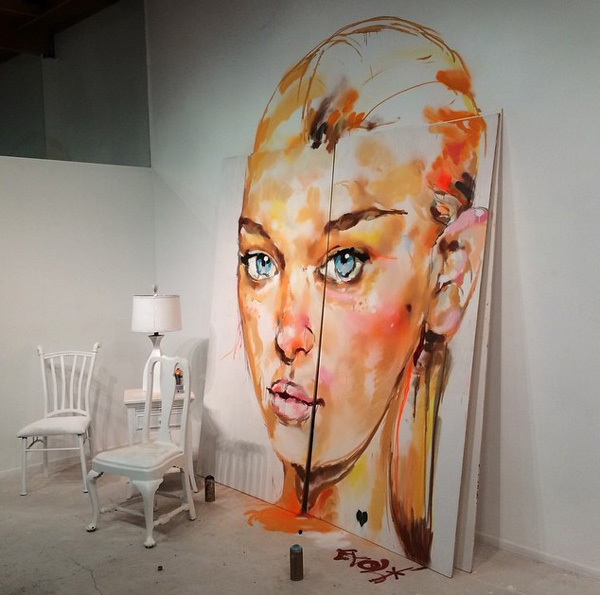 Samir Evol Mural - Open Wall @ DAX Gallery Costa Mesa