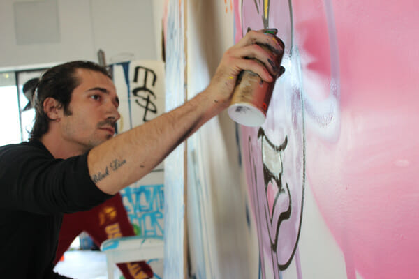 Sebastien Walker Mural - Street Art - Live Painting - Grafitti - Open Walls @ DAX Gallery Costa Mesa - art in OC