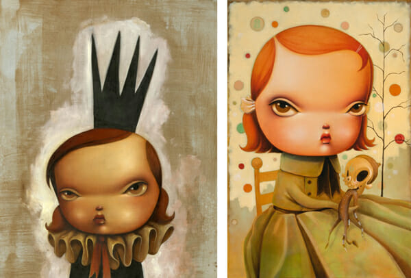 Kathie Olivas @ Baker Hesseldenz - 1st Annual Spring Group Exhibition 2015 - preview by beautiful bizarre art