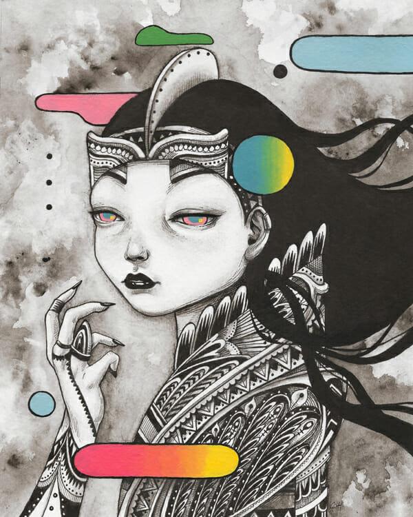 """""""Aurora"""" by Julia Sonmi Heglund @ Marcas Contemporary"""